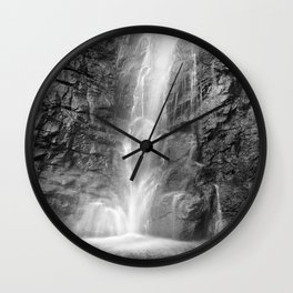 Sierra Nevada waterfall. At the mountains. Square Wall Clock