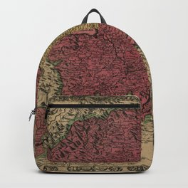 Map Of Bern 1638 Backpack