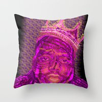 notorious Throw Pillows featuring B.I.G Notorious by Dewi Gale