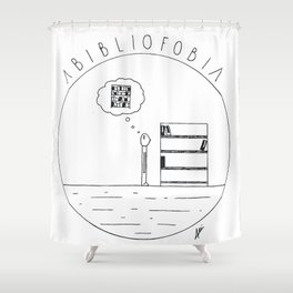 Simple love to books Shower Curtain