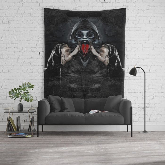 forget me because my heart broke   Wall Tapestry