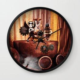 Cute little steampunk friends Wall Clock