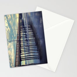 Just Wandering along the beach at Cayucos Pier Stationery Cards