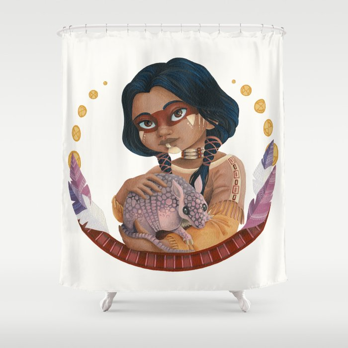 Dreamy Tale Of A Native American Shower Curtain By Justinef