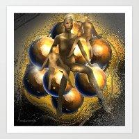 Globally light people Art Print