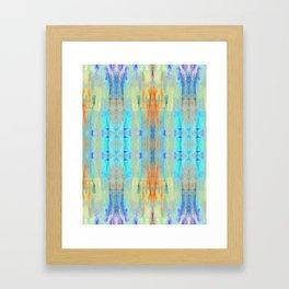 Aqua Crush Framed Art Print