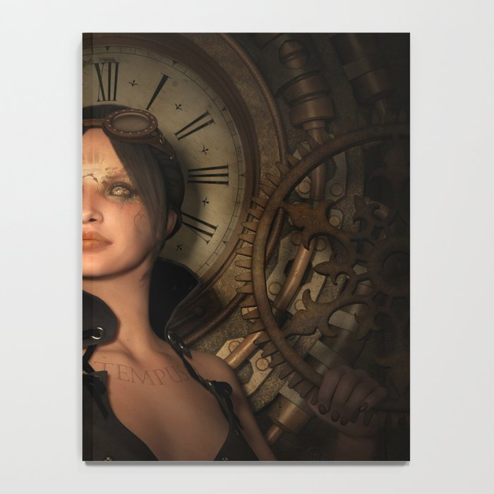 Steampunk Time Keeper Notebook