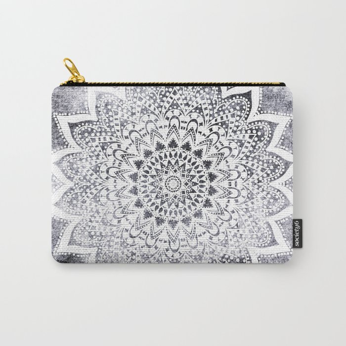 BOHO WHITE NIGHTS MANDALA Carry-All Pouch