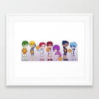 kuroko Framed Art Prints featuring Kuroko no Basket by Jackce
