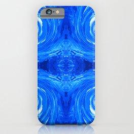 62 - Blue swirls iPhone Case