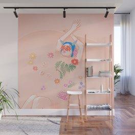Flower Bath Wall Mural