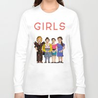 girls Long Sleeve T-shirts featuring Girls by Sy Graham