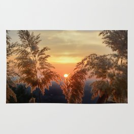 """""""Sun through the fields"""" Sunset at the mountains Rug"""