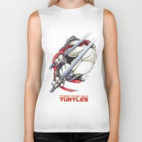 tmnt Biker Tanks featuring TMNT by Linartist