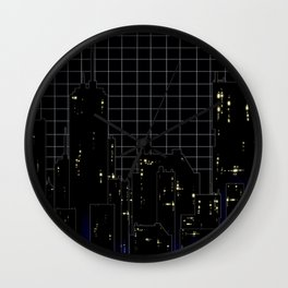 City Night Wall Clock