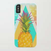 pineapples iPhone & iPod Cases featuring Pineapples by Ornaart