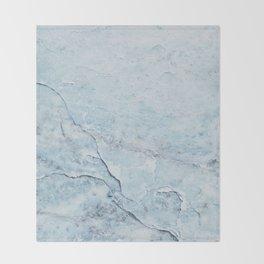 Light Blue Marble Throw Blanket