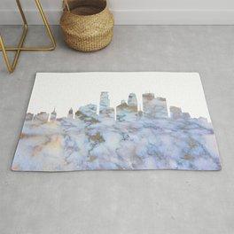 Minneapolis Skyline Minnesota Rug