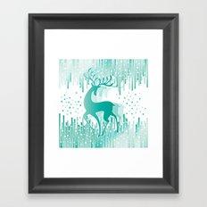 Dancing Deer Framed Art Print