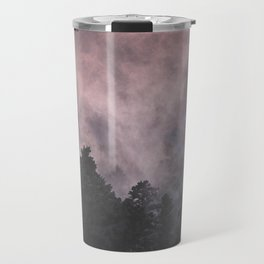 Forest of Trees with a Smoke Filled Sky Travel Mug