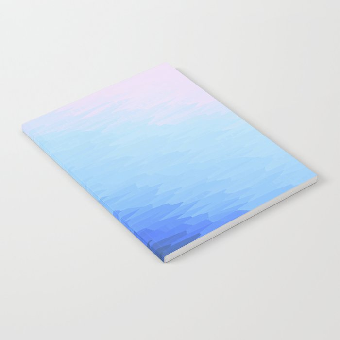 Blue Texture Ombre Notebook