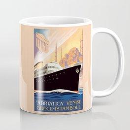 Venice Greece Istanbul shipping line retro vintage ad Coffee Mug