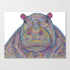 Hippie-Potamus (Multicolour) Canvas Print