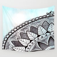 zentangle Wall Tapestries featuring Zentangle by Nathanee.