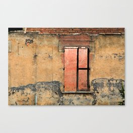 Ruin with Pink Window Canvas Print