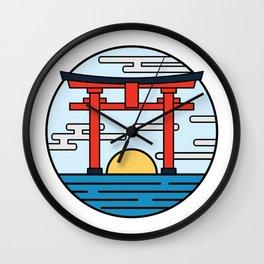Sunrise Torii Gate Wall Clock