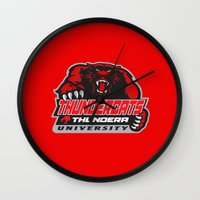 thundercats Wall Clocks featuring  thundera university by Buby87