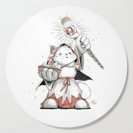White Mage Munchkin Cat Cutting Board