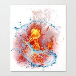 Fire And Water I Rose Beautyfull Gift Shirt Canvas Print