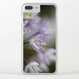 Delicate Purple Flowers Clear iPhone Case