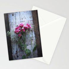 Rustic Pink Roses Stationery Cards