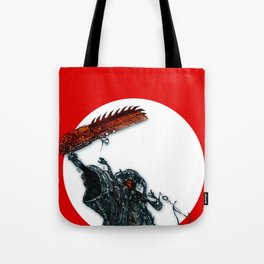 screaming chainsaw Tote Bag