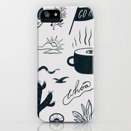 southwest sketch iPhone Case