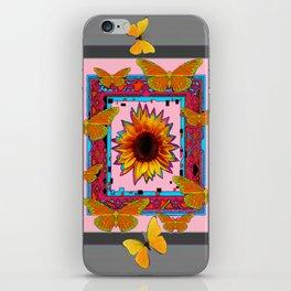 SOUTHWEST ART BUTTERFLIES SUNFLOWERS iPhone Skin
