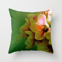 flora Throw Pillows featuring Flora by Jake Stanton