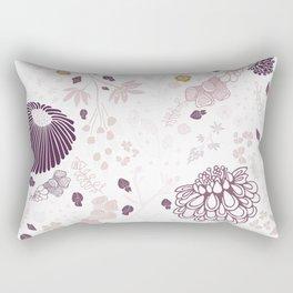 Field of Flowers on White Rectangular Pillow