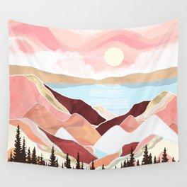 Autumn Lake Sunrise Wall Tapestry