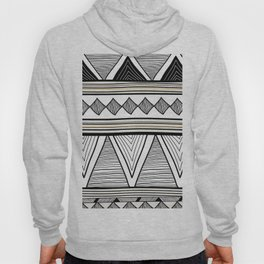 Tribal seamless white and black pattern Hoody