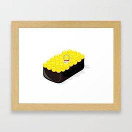 Space Odyssey Sushi   Astronaut Sushi   Space Sushi   Galaxy Sushi   Ikura Sushi   pulps of wood Framed Art Print