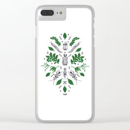 Orienteering insects Clear iPhone Case