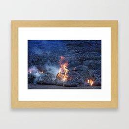 Kilauea Volcano Lava Flow. 5 Framed Art Print
