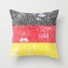 Made In Germany Throw Pillow