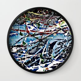Woman swimming Wall Clock