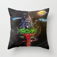 castle in the sky Throw Pillows featuring Castle in the Sky by Sarah Maurer