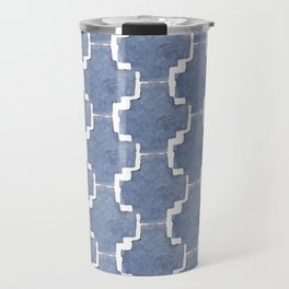 Chambray Pattern Travel Mug