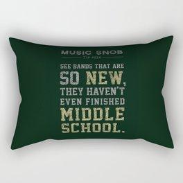 Newest of the NEW — Music Snob Tip #526 Rectangular Pillow